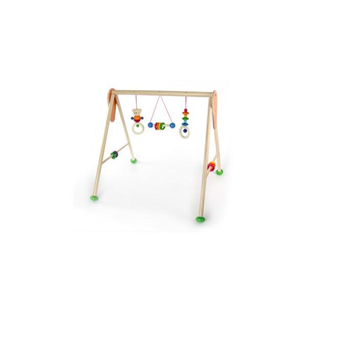 Дървена активна гимнастика с висящи играчки за бебета