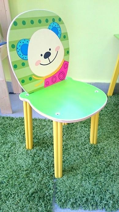 """Дървено детско столче """"Мече"""""""