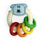 Дървена играчка Дрънкалка Куче за бебета