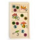Дървена играчка Игра мемо за смятане за малки деца