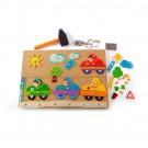 """Дървена играчка Игра за сръчност """"Колите"""" за деца"""