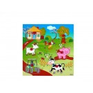 """Дървена играчка Пъзел """"селски двор""""пъзел"""