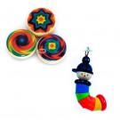 Дървена играчка ключодържател Джо & Йо-Йо за деца